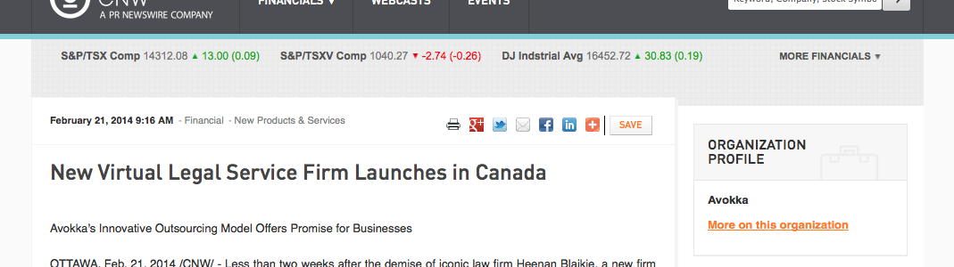 New Virtual Legal Service Firm Launches in Canada   CNW